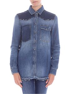 7 For All Mankind - Denim shirt with studs