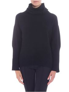 Semicouture - Black dropped shoulder pullover