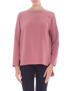 Alberto Biani  - Antique pink colored dropped shoulder blouse