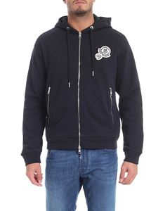 Moncler - Blue sweatshirt with logo patch