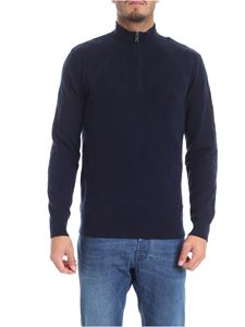 Ballantyne - Blue diamond knitted pullover