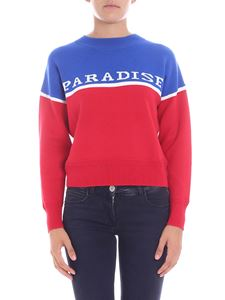 """Isabel Marant Étoile - """"Paradise"""" blue and red motif pullover"""