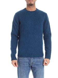 Aspesi - Teal-blue color crew-neck pullover