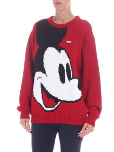 "GCDS - ""Mickey Mouse"" red crewneck pullover"