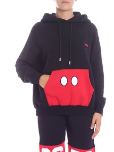 "GCDS - ""Mickey Mouse"" black and red sweatshirt"