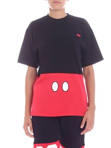 "GCDS - ""Mickey Mouse"" black and red t-shirt"