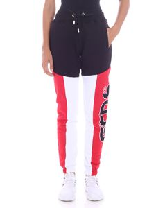 GCDS - Black and white colorblock pants
