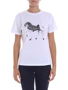 "JW Anderson - ""Carousel Horse"" white T-shirt"