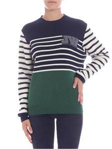 JW Anderson - Striped pullover with logo
