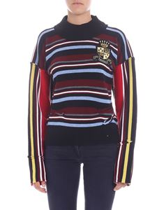 "JW Anderson - ""Deconstructed Stripe"" multicolor pullover"