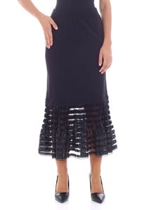 JW Anderson - Long black skirt with tulle insert