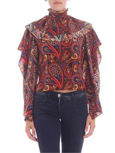 JW Anderson - Multicolor high-neck paisley blouse