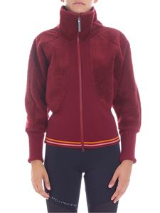 "Adidas by Stella McCartney - ""Train Fleece"" burgundy sweatshirt"