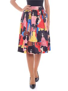 "Alice + Olivia - ""Birdie"" multicolor printed fabric skirt"