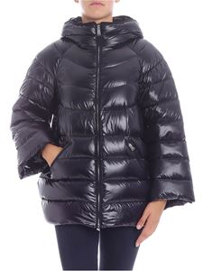 ADD - Black down jacket with zip pockets
