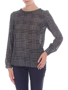 Barba - Black and beige houndstooth blouse