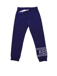 Kenzo - Blue and white logo trousers