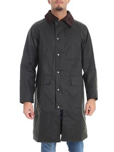"""Barbour - Cappotto """"New Burghley Wax"""" verde"""