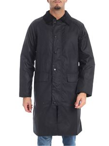 """Barbour - Cappotto """"New Burghley Wax"""" blu"""