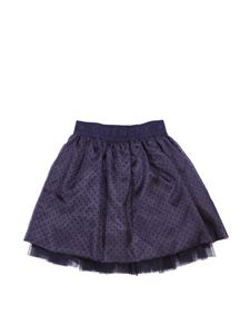 Givenchy - Blue tulle skirt with logo