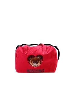 "Moschino Kids - ""Teddy Bear"" red mommy's bag"