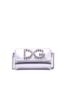Dolce & Gabbana - Silver shoulder bag with rhinestones
