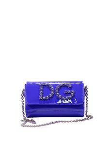 Dolce & Gabbana - Blue shoulder bag with rhinestones