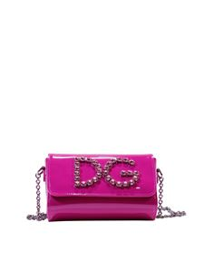 Dolce & Gabbana - Fuchsia shoulder bag with rhinestones