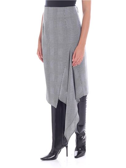 7704298a34 Off-White Fall Winter 18/19 black and white houndstooth skirt ...