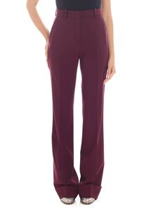 Etro - Wine-red color flared trousers