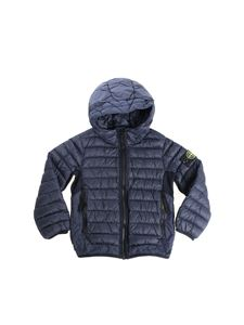 Stone Island Junior - Blue quilted down jacket