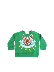Gucci - Green sweatshirt with fox print