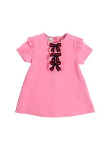Gucci - Pink dress with blue and red bows