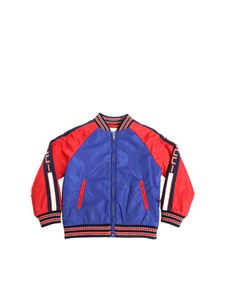 Gucci - Blue and red padded bomber