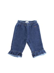 Il gufo - Blue jeans with ruffles