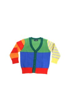 Il Gufo - V-neck multicolor cardigan