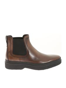 Tod's - Brown leather ankle boots