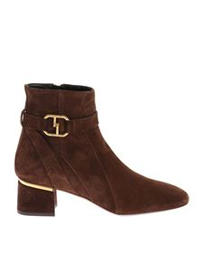 Tod's - Brown ankle boots with side zip