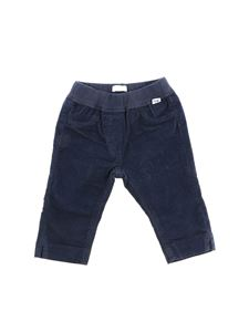 Il Gufo - Blue trousers with white logo insert