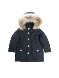 Woolrich - Blue down jacket with fur insert