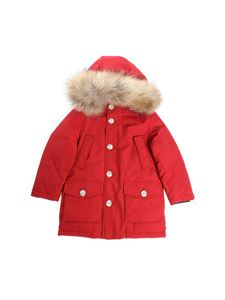 "Woolrich - Red ""Parka Detachable"" down jacket"