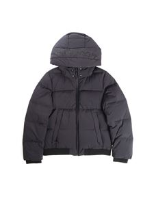 Woolrich - Hooded anthracite down jacket
