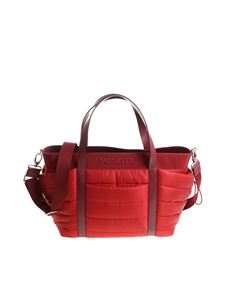 Moncler Jr - Red quilted mom bag