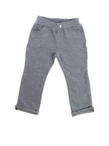 Moncler Jr - Gray trousers with turn-up