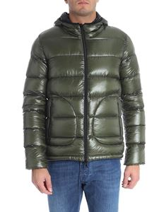 Herno - Green and black reversible down jacket