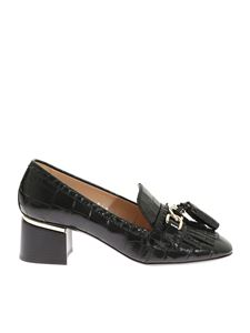 Tod's - Coco printed black pumps