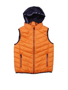 Givenchy - Orange sleeveless down jacket