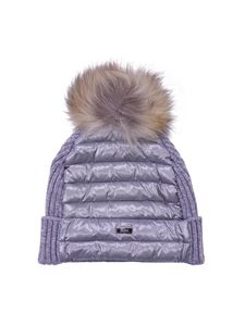 Herno - Grey beanie with pom pom