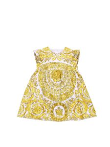 Versace Young - Flared baroque printed dress