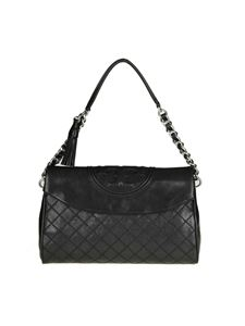 "Tory Burch - Borsa ""Fleming Distressed"" nera"